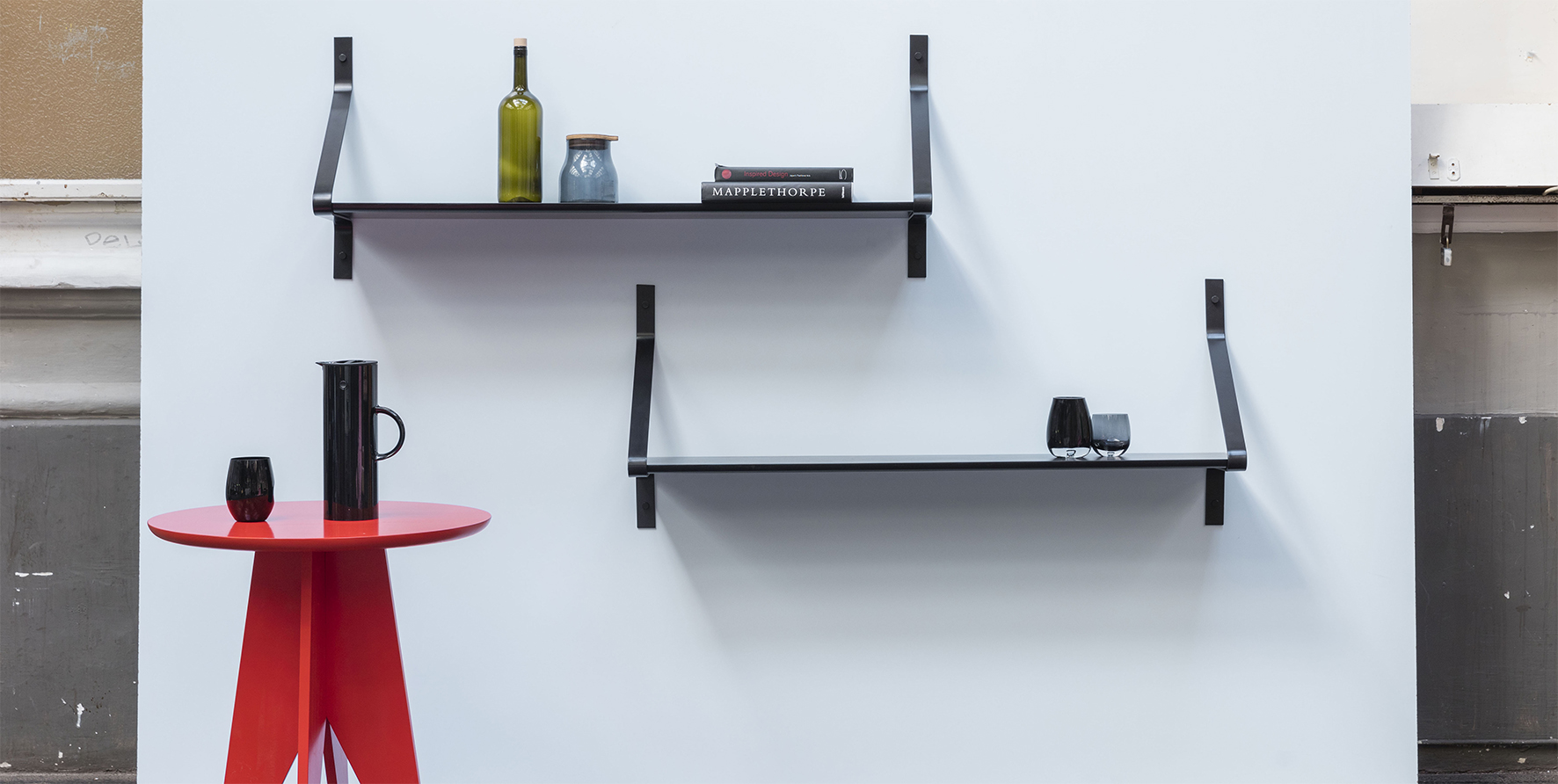 Ribbon Regalsystem Shelf black